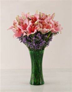 flowers: Pink Asiflorum Lily Vase!