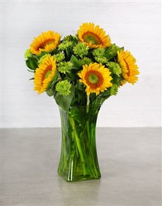 flowers: Sunflower and Spray Arrangement!