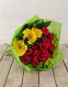 flowers: Mystical Rose & Gerbera Bouquet!
