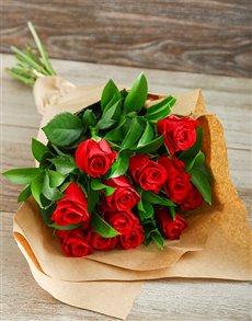 best-sellers: Deep Red Roses in Craft Paper!