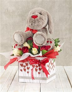 flowers: Roses and Puppy Romance Box!