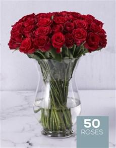 flowers: Red Roses in Hurricane Vase!