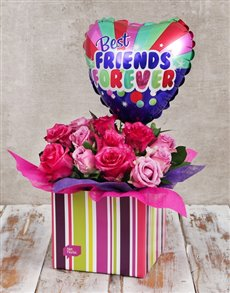 gifts: Best Friends Balloon and Rose Box!