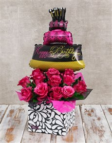 gifts: Fabulous Celebration Balloon and Rose Box!