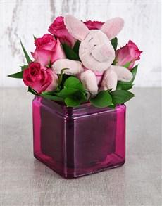 flowers: Piglet Rose Vase!