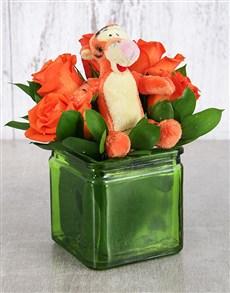 flowers: Tigger Rose Vase!