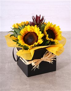 flowers: Elegant Sunflower Box!