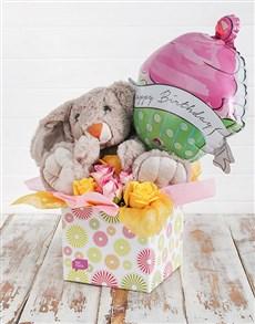 flowers: Rabbit Roses and Birthday Balloon Box!