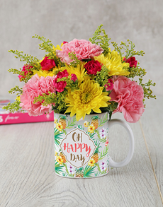 gifts: Oh Happy Day Mug Arrangement!