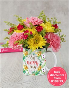 flowers: Oh Happy Day Mug Arrangement in Bulk!