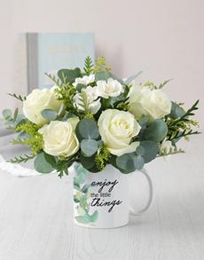 flowers: Little Things Mug Arrangement!