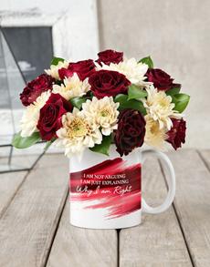flowers: I am Right Rose Mug Arrangement!