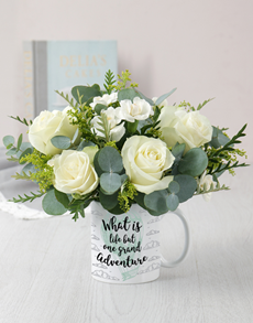 flowers: Grand Adventure Mug Arrangement!