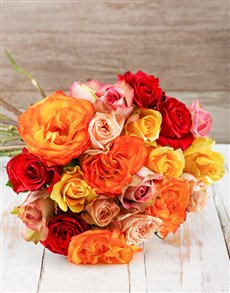 flowers: Mixed Giant Ethiopian Rose Bouquet!