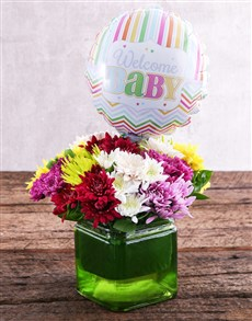 flowers: Welcome Baby Balloon and Sprays Gift!