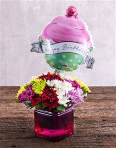 flowers: Birthday Balloon and Sprays Gift!