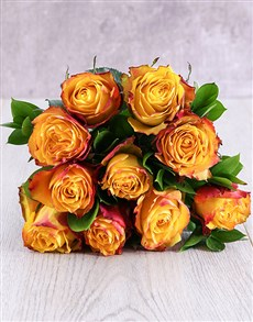 flowers: Orange Ethiopian Rose Bouquet!