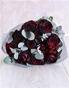 flowers: Burnt Red Ethiopian Rose Bouquet!