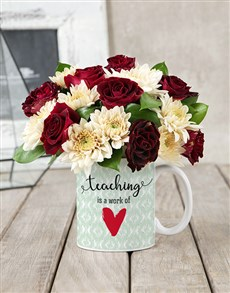 flowers: Teaching Mug Arrangement!