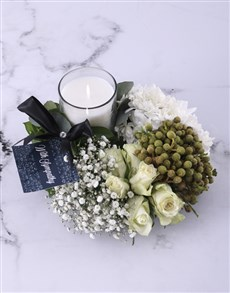 flowers: Green and White Sympathy Wreath!