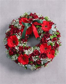 flowers: Red Christmas Wreath!