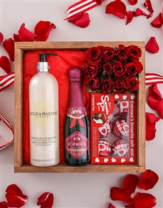 flowers: Red Rose Pamper Crate!