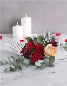 flowers: Heart Wrapped Red Rose Bouquet!