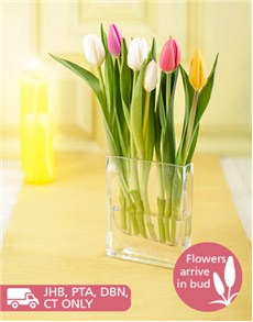 flowers: Cascading Tulip Arrangement!