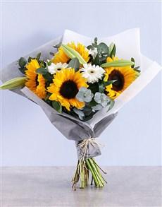 flowers: Sunflower and Gerbera Bouquet!