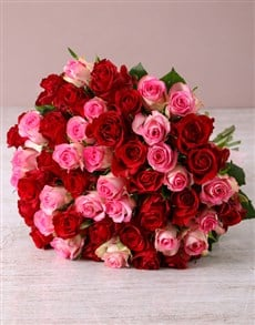 flowers: Opulent Mixed Roses Bouquet!