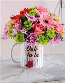 flowers: Ooh La La Mug Arrangement!