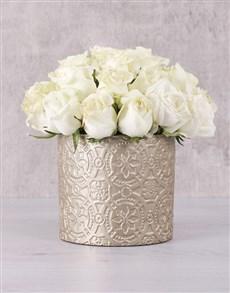 flowers: White Enchanting Roses!