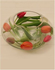 flowers: Modern Tulips in a Glass Vase!