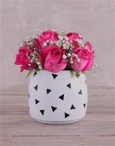 flowers: Striking Cerise Roses!