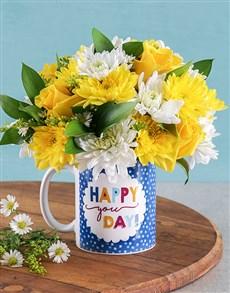 flowers: Happy You Day Flower Mug!