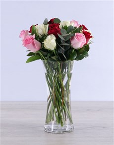 flowers: Mixed Roses with Flair!