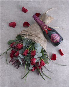 flowers: Red Roses and Romance Combo!
