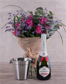 flowers: Bliss Cerise Roses Combo!