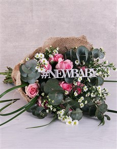 flowers: New Baby Delicate Pink Bouquet!