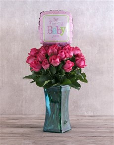 gifts: Baby Girl Cerise Roses!