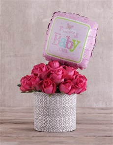 flowers: Baby Cerise Pink Roses in Pot!