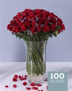 flowers: Designer 100 Red Roses Vase!