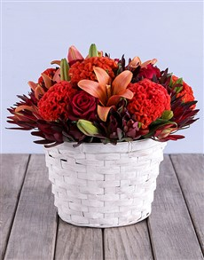flowers: Colour Me Orange Basket!