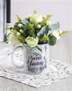 flowers: Some Bunny Loves you Floral Mug Arrangement!