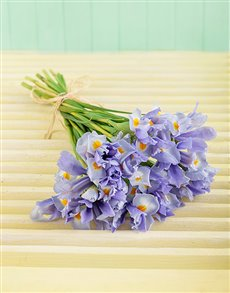 flowers: Light Blue Iris Bouquet!