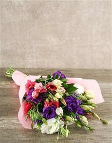 flowers: Mixed Lisianthus Bouquet!
