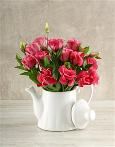 gifts: Tea Time Lisianthus Arrangement!