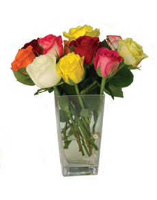 flowers: FREE Vase with 12 Assorted Roses!