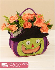 flowers: Halloween Bag with Carnations!