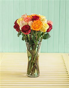 flowers: Premium Mixed Rose Vase!